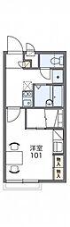 JR中央本線 高蔵寺駅 バス7分 不二小学校前下車 徒歩5分の賃貸アパート 2階1Kの間取り