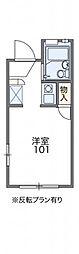 レオパレスFUKUMURAIII 1階1Kの間取り