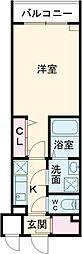 都営大江戸線 東新宿駅 徒歩11分の賃貸マンション 2階1Kの間取り