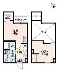 南海高野線 堺東駅 徒歩13分の賃貸アパート 1階1Kの間取り