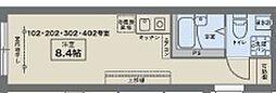 JR中央線 西荻窪駅 徒歩7分の賃貸マンション 2階ワンルームの間取り