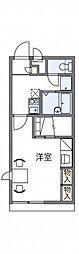 神鉄有馬線 鈴蘭台駅 徒歩8分の賃貸アパート 1階1Kの間取り