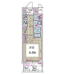 プレサンス谷町九丁目ディセオ 10階1Kの間取り