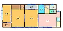 入江住宅 1階3DKの間取り