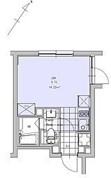 JR中央線 吉祥寺駅 徒歩11分の賃貸マンション 2階1Kの間取り