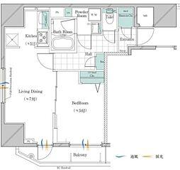 JR山手線 大塚駅 徒歩3分の賃貸マンション 7階1LDKの間取り
