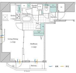 JR山手線 大塚駅 徒歩3分の賃貸マンション 2階1LDKの間取り