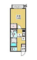 JR山手線 高田馬場駅 徒歩4分の賃貸アパート 3階1Kの間取り