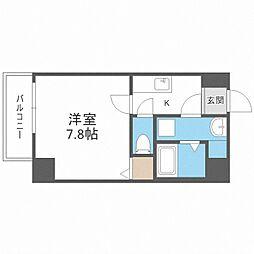 TOYOTOMI STAY PREMIUM 梅田III 4階1Kの間取り