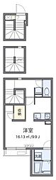 東京メトロ副都心線 北参道駅 徒歩4分の賃貸アパート 3階1Kの間取り