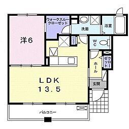 阪急宝塚本線 曽根駅 徒歩15分の賃貸アパート 1階1LDKの間取り