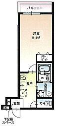 京阪本線 萱島駅 徒歩3分の賃貸アパート 3階1Kの間取り