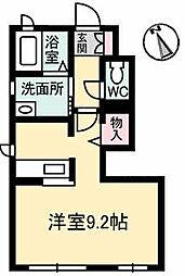 高松琴平電気鉄道琴平線 太田駅 徒歩6分の賃貸アパート 1階ワンルームの間取り