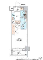 ディームス菊川 2階1Kの間取り