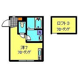 相鉄いずみ野線 弥生台駅 徒歩10分の賃貸アパート 1階1Kの間取り