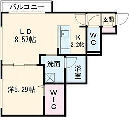仮称)千歳清水町5丁目マンション 4階1LDKの間取り