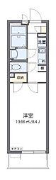 JR東海道本線 平塚駅 徒歩11分の賃貸マンション 1階1Kの間取り