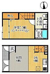 R-BOX 津福III 1階1LDKの間取り