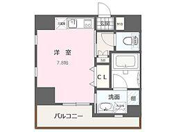 福岡市地下鉄空港線 大濠公園駅 徒歩8分の賃貸マンション 7階1Kの間取り