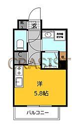 福岡市地下鉄七隈線 薬院大通駅 徒歩12分の賃貸マンション 3階ワンルームの間取り