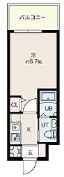 Osaka Metro御堂筋線 昭和町駅 徒歩12分の賃貸マンション 7階1Kの間取り