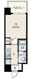 Osaka Metro御堂筋線 昭和町駅 徒歩12分の賃貸マンション 8階1Kの間取り