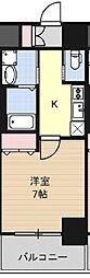 Huttenwerke Osaka Namba 8階1Kの間取り
