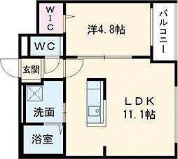 仮)GRAN-住吉1丁目MS 1階1LDKの間取り