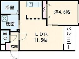 仮)GRAN-住吉1丁目MS 3階1LDKの間取り