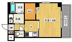 LE DOME東蟹屋 2階1Kの間取り