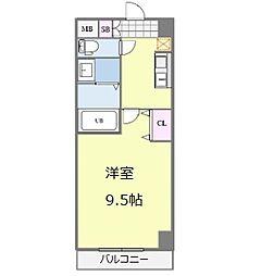 Osaka Metro御堂筋線 なんば駅 徒歩13分の賃貸マンション 5階1Kの間取り