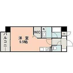 熊本市電A系統 河原町駅 徒歩4分の賃貸マンション 3階ワンルームの間取り