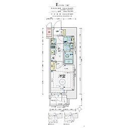 エステムコート梅田・天神橋IV ステーションフロント 3階1Kの間取り