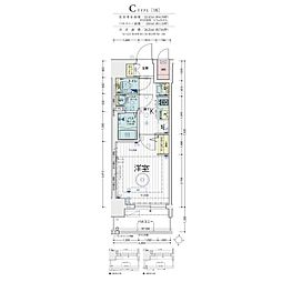 Osaka Metro堺筋線 天神橋筋六丁目駅 徒歩5分の賃貸マンション 3階1Kの間取り