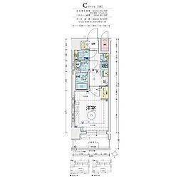 Osaka Metro堺筋線 天神橋筋六丁目駅 徒歩5分の賃貸マンション 4階1Kの間取り