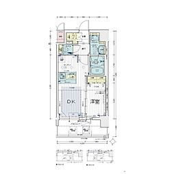 Osaka Metro堺筋線 天神橋筋六丁目駅 徒歩5分の賃貸マンション 3階1DKの間取り
