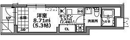 LOTUS HEIWAJIMA 1階ワンルームの間取り