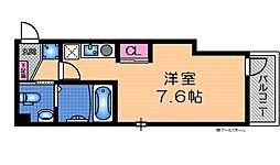 近鉄大阪線 長瀬駅 徒歩7分の賃貸マンション 2階ワンルームの間取り