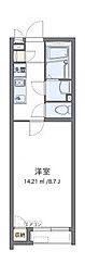 JR東北本線 東大宮駅 徒歩15分の賃貸アパート 2階1Kの間取り