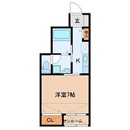 仮)鹿野3丁目新築1Kアパート 1階1Kの間取り