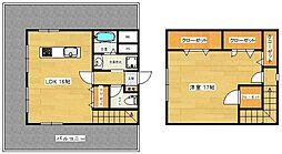 福岡市地下鉄空港線 東比恵駅 徒歩5分の賃貸マンション 7階1LDKの間取り