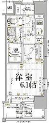 JR山陽本線 兵庫駅 徒歩5分の賃貸マンション 8階1Kの間取り