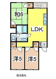 ファミネスハイツ海老澤2号館 2階3LDKの間取り