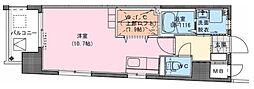 Riviere Champ 宮田町 7階ワンルームの間取り