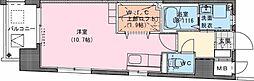 Riviere Champ 宮田町 10階ワンルームの間取り