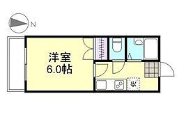 水島臨海鉄道 栄駅 3.6kmの賃貸マンション 4階1Kの間取り