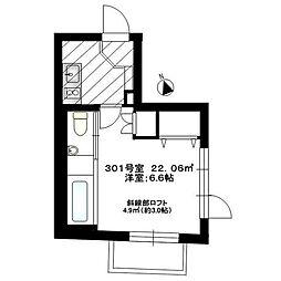 JR山手線 恵比寿駅 徒歩4分の賃貸マンション 3階1Kの間取り