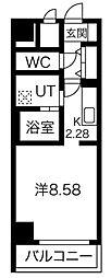 あさひグランレジデンシア高崎II 7階1Kの間取り