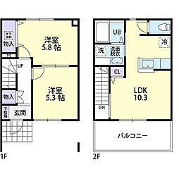 ミ・カシータ 1階2LDKの間取り