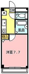 エスパシオ千代崎 2階1Kの間取り